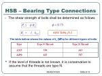 hsb bearing type connections