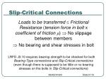 slip critical connections