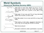 weld symbols american welding society aws