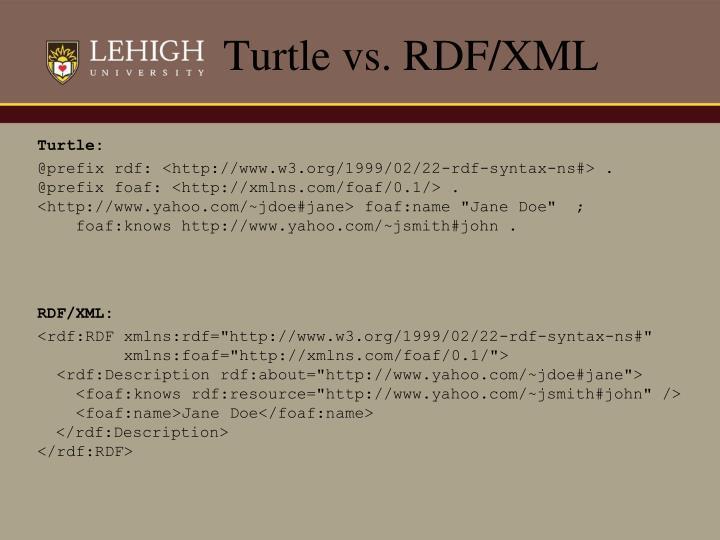 Turtle vs. RDF/XML