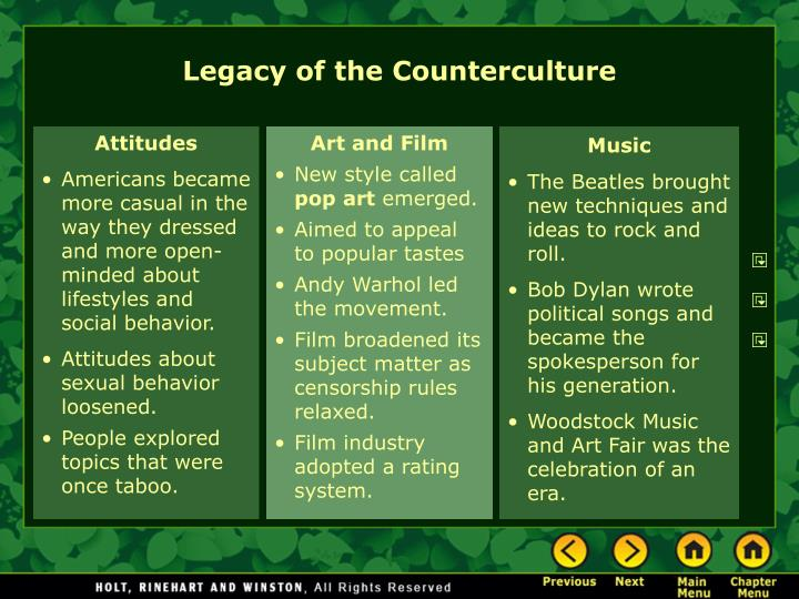 Legacy of the Counterculture