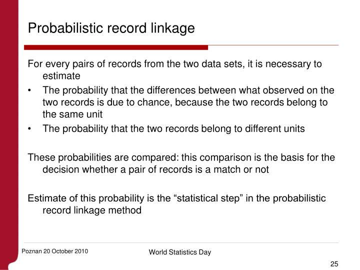 Probabilistic record linkage