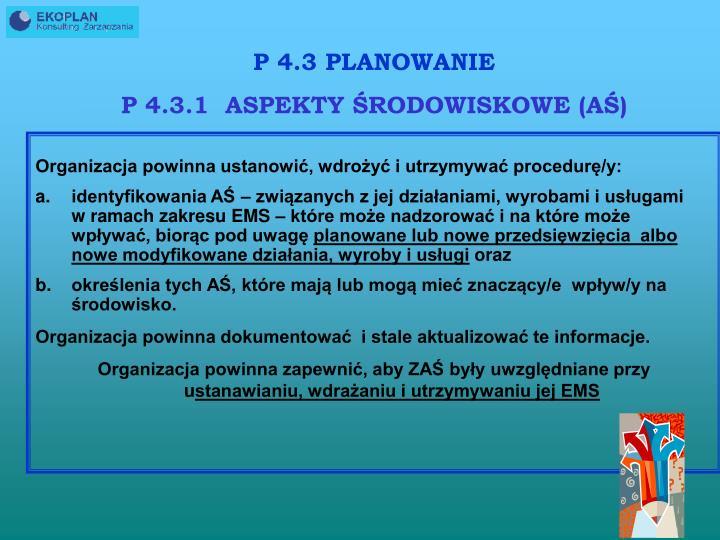 P 4.3 PLANOWANIE