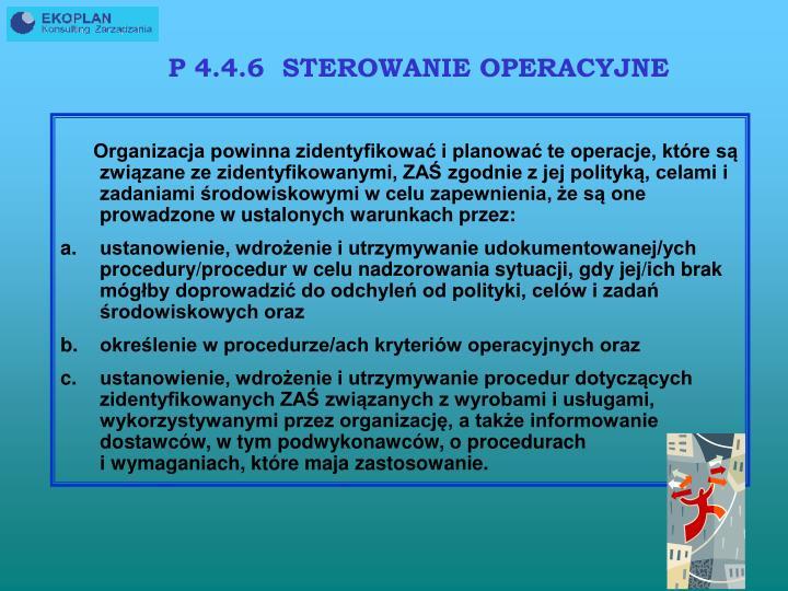 P 4.4.6  STEROWANIE OPERACYJNE