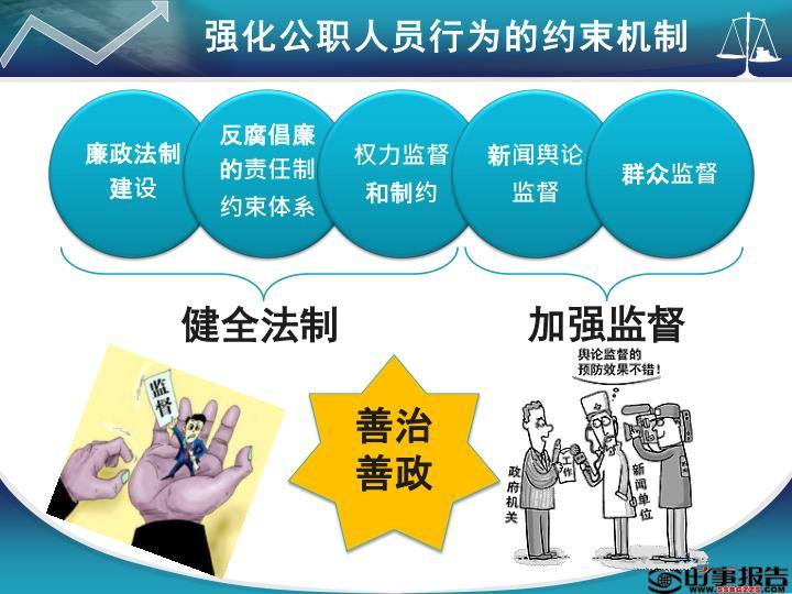 强化公职人员行为的约束机制