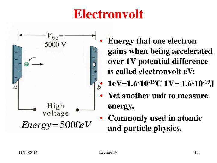 Electronvolt