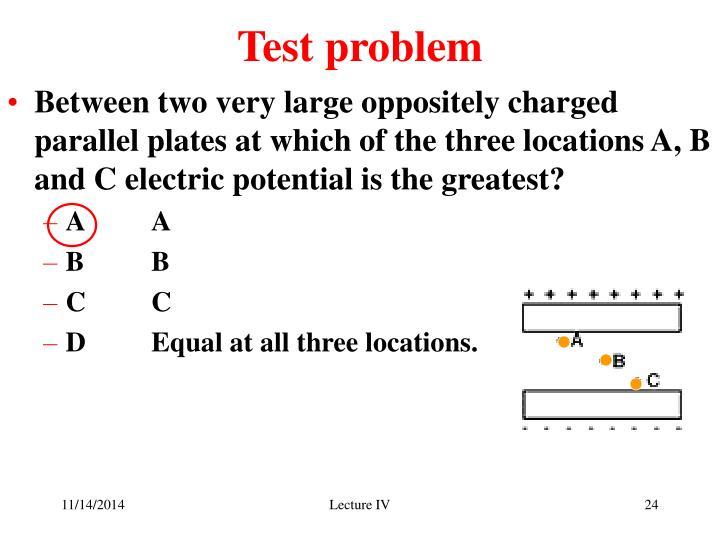 Test problem