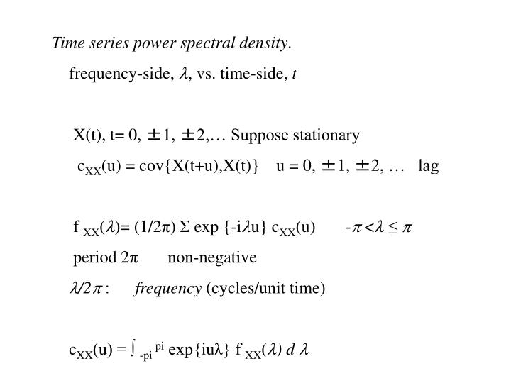 Time series power spectral density