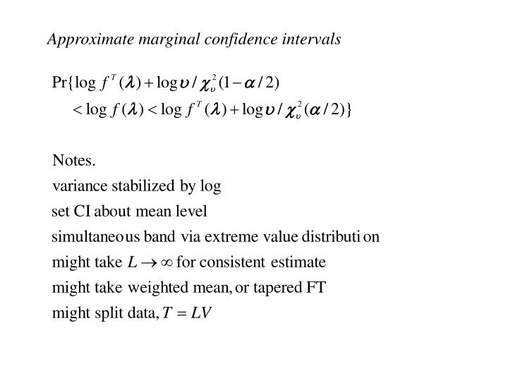 Approximate marginal confidence intervals