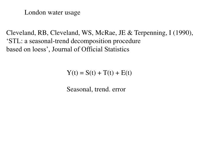 London water usage