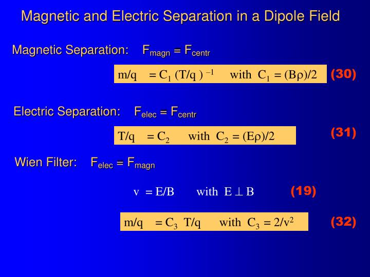 Magnetic and Electric Separation in a Dipole Field