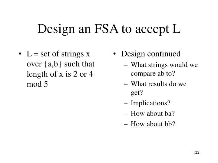 Design continued