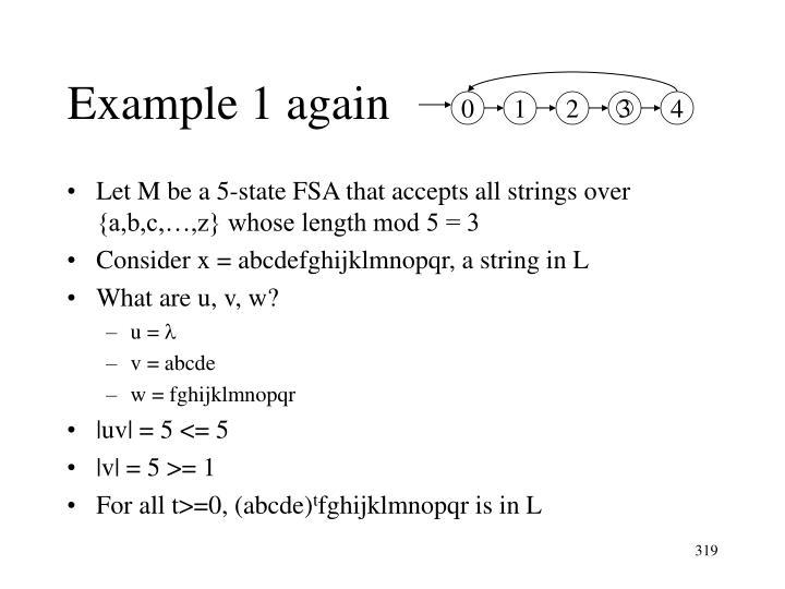 Example 1 again