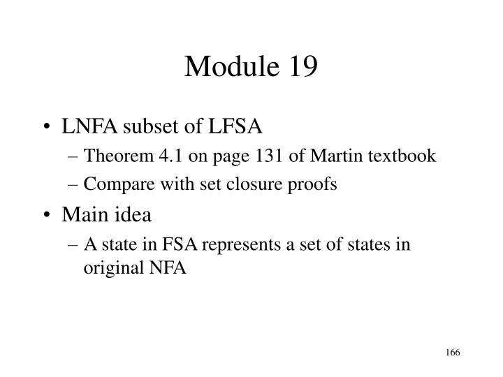 Module 19