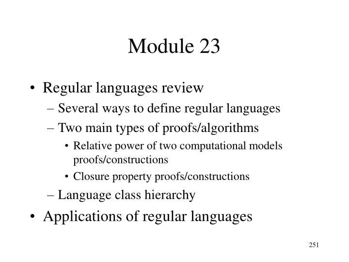 Module 23