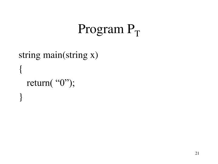 Program P