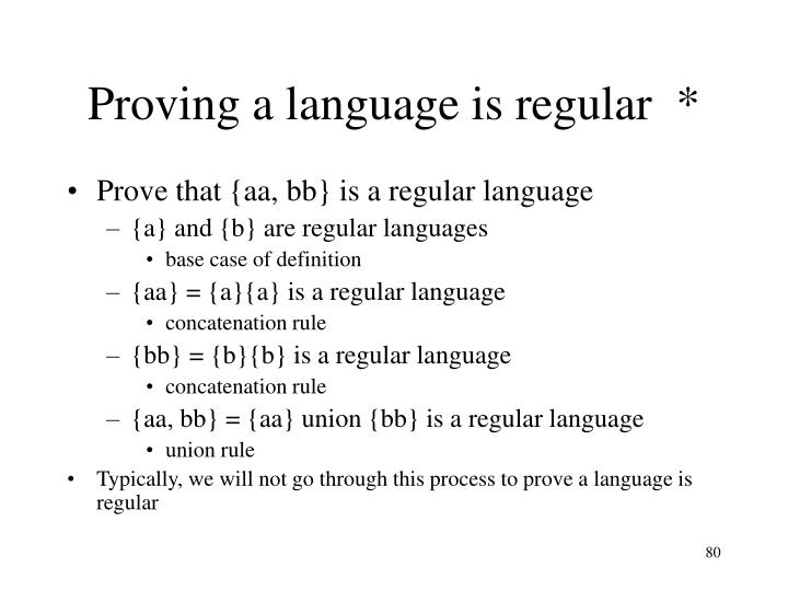 Proving a language is regular  *