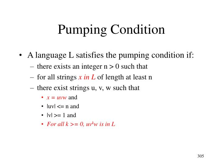 Pumping Condition