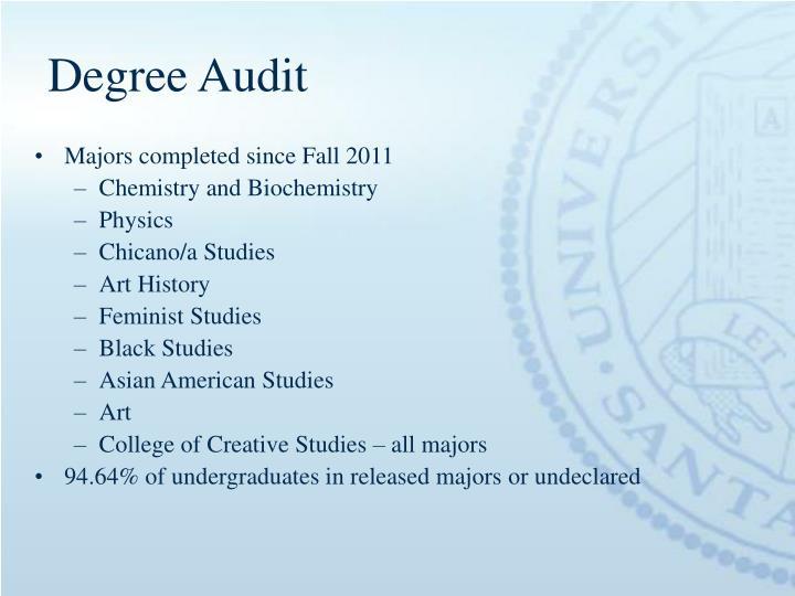 Degree Audit