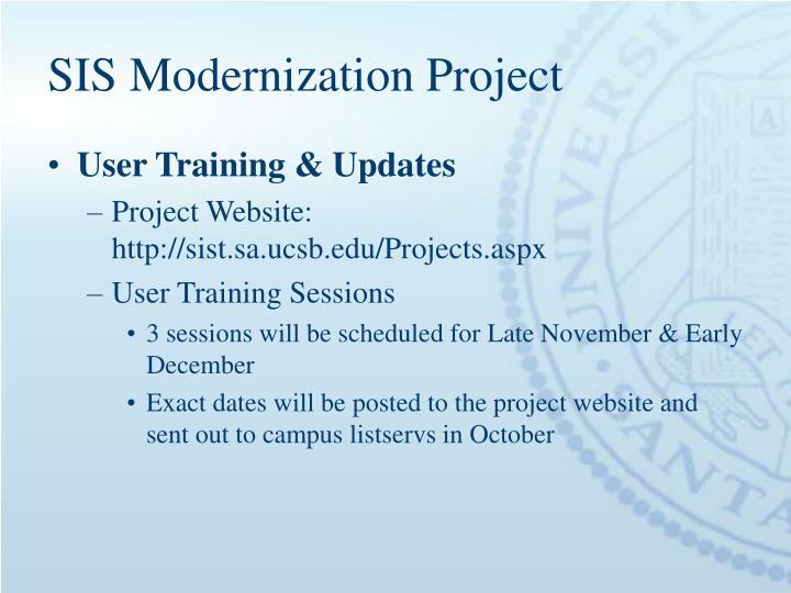 SIS Modernization Project