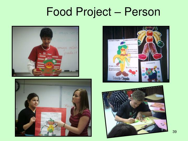 Food Project – Person