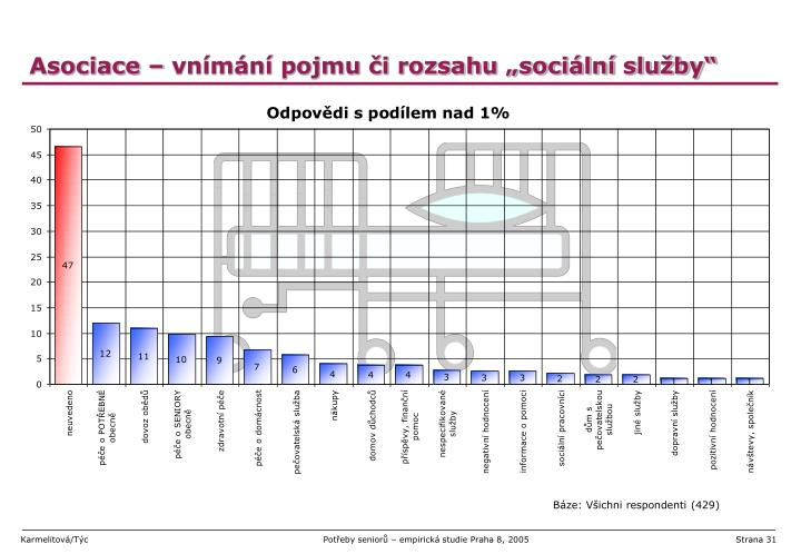 """Asociace – vnímání pojmu či rozsahu """"sociální služby"""""""