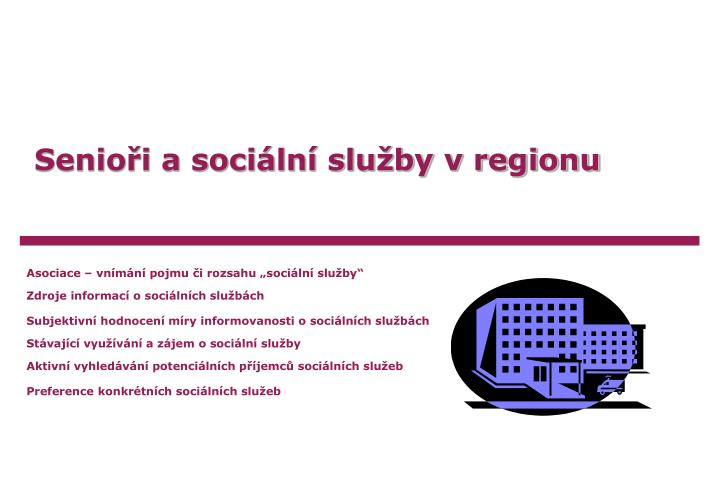 Senioři a sociální služby v regionu