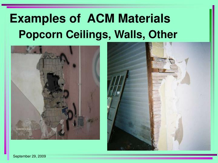 Examples of  ACM Materials