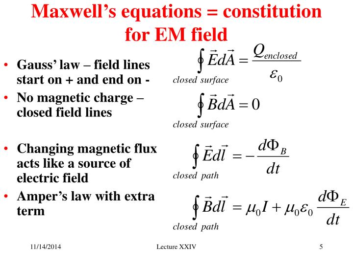 Maxwell's equations = constitution for EM field