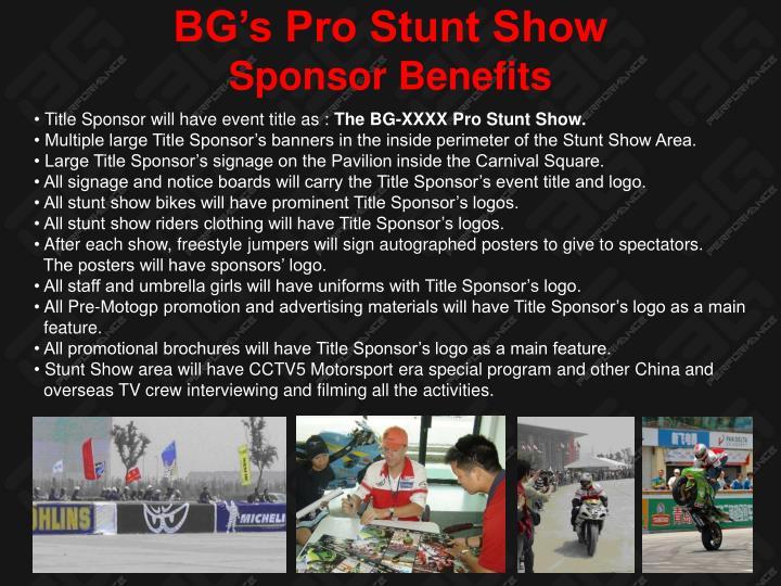 BG's Pro Stunt Show