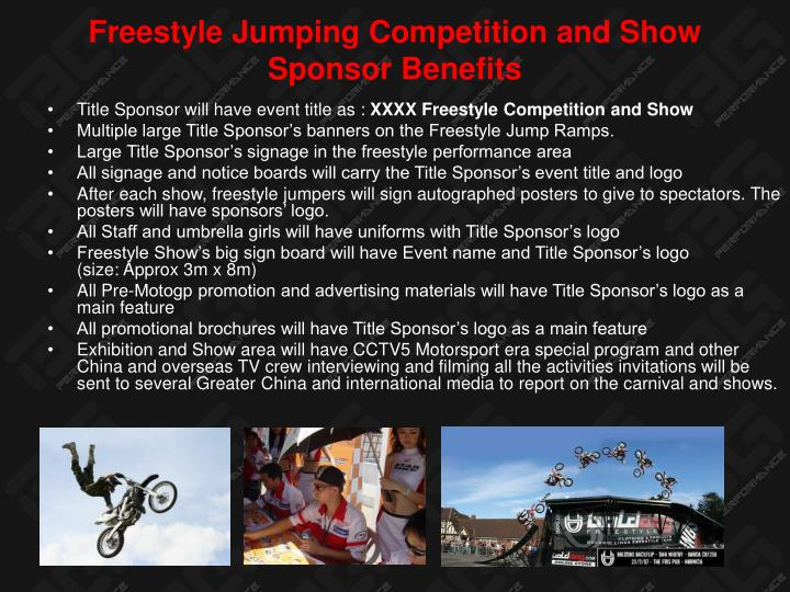 Freestyle Jumping Competition and Show