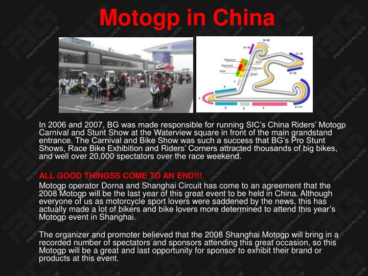 Motogp in China
