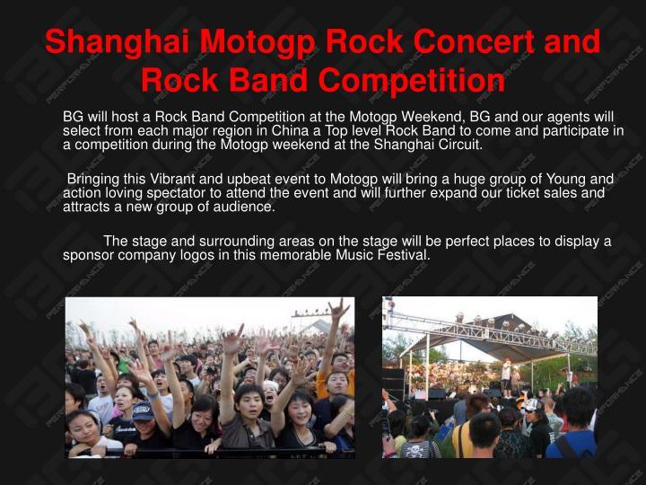 Shanghai Motogp Rock Concert and