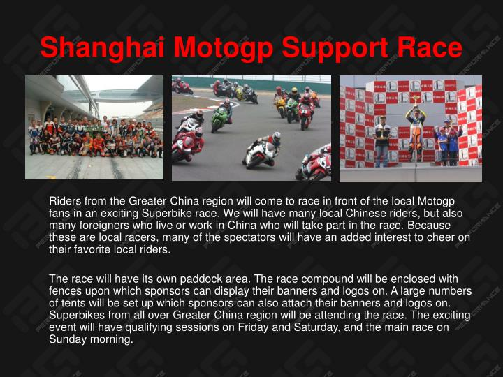 Shanghai Motogp Support Race