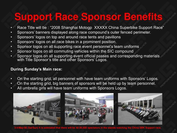 Support Race Sponsor Benefits