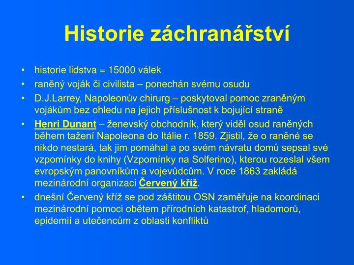 Historie záchranářství