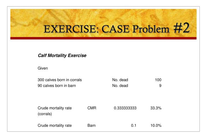 EXERCISE: CASE Problem