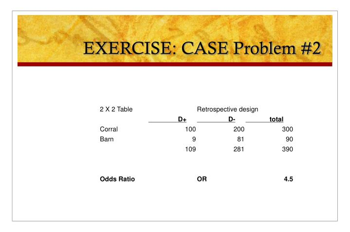 EXERCISE: CASE Problem #2