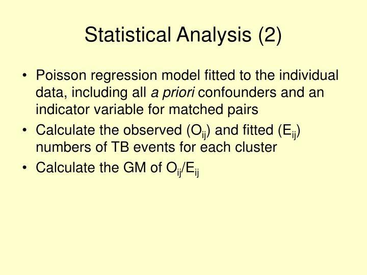 Statistical Analysis (2)