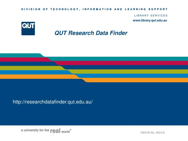 Qut research data finder