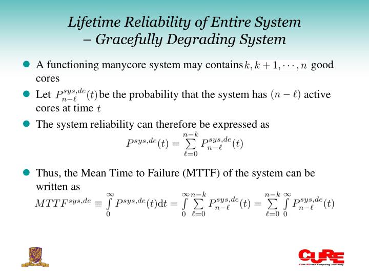 Lifetime Reliability of Entire System