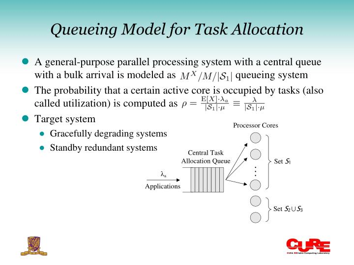 Queueing Model for Task Allocation