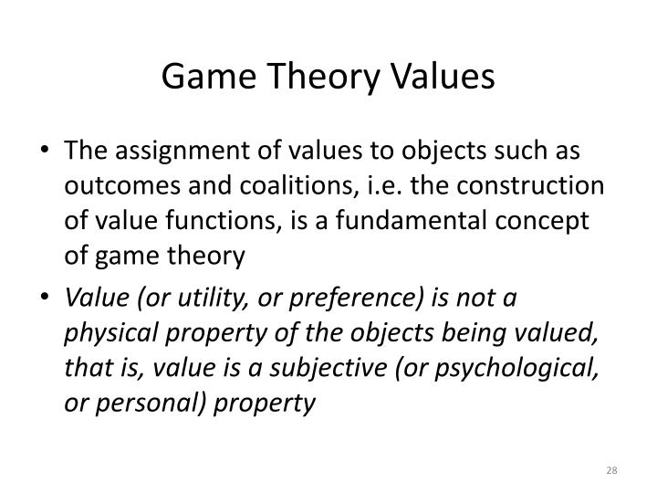 Game Theory Values