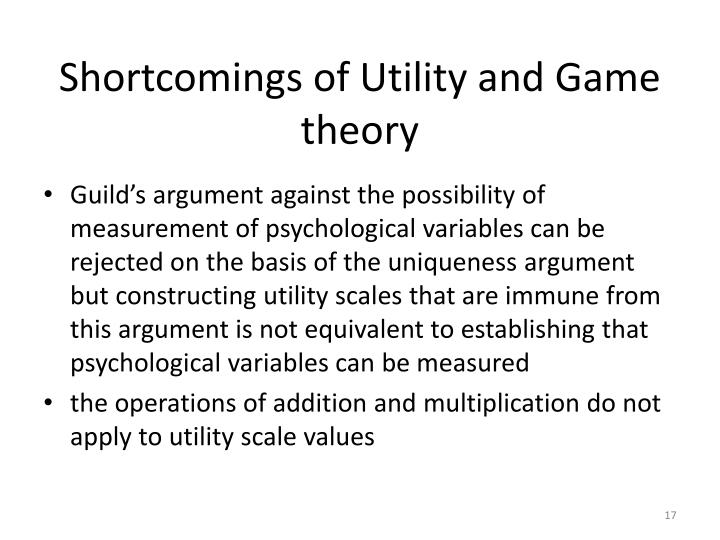 Shortcomings of Utility and Game theory