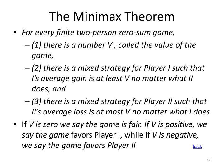 The Minimax Theorem