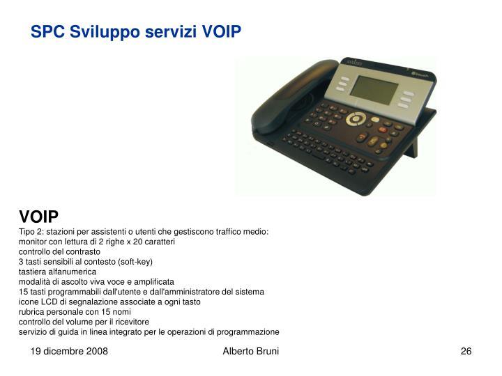 SPC Sviluppo servizi VOIP