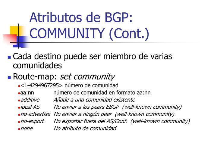 Atributos de BGP: