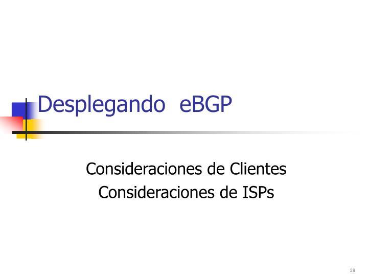 Desplegando  eBGP