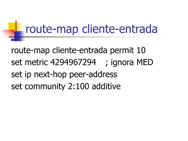 route-map cliente-entrada