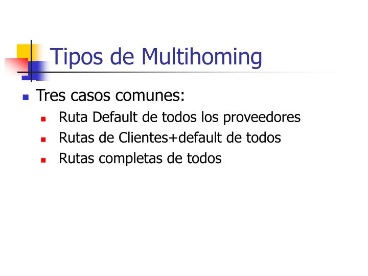 Tipos de Multihoming